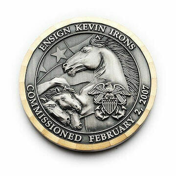 horses on commander coin