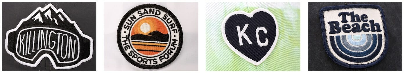 custom embroidered hat patches