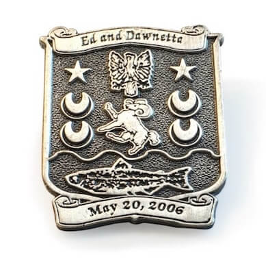 pewter pin with year date