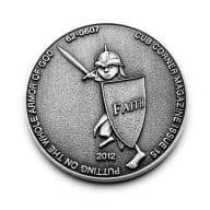 silver religious coin
