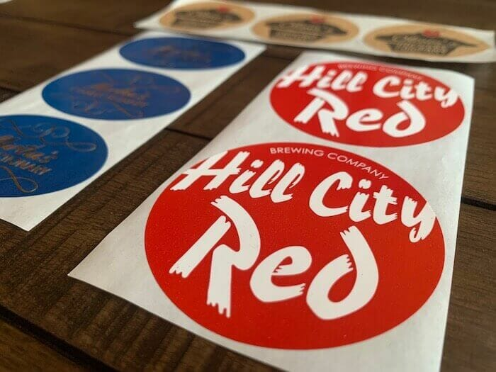 custom roll labels in round shapes