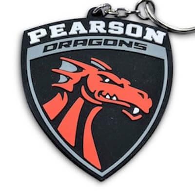 rubber pvc keychains dragon shape