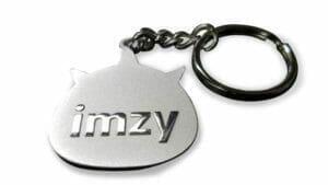 custom keychains in silver