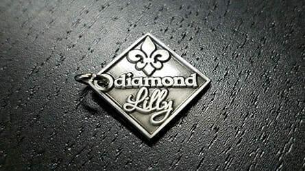 custom pendants in silver logo