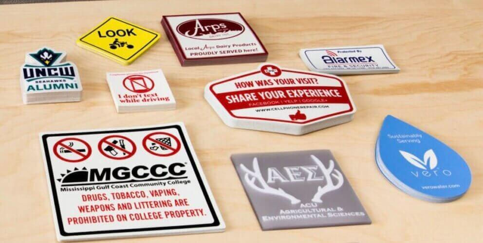 custom stickes with company logos