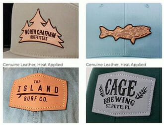 customized shaped leather patches