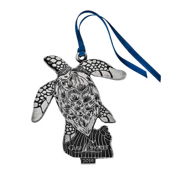 custom turtle ornament