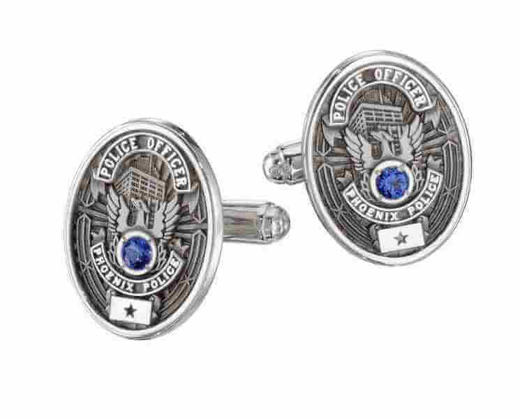 die struck cufflinks