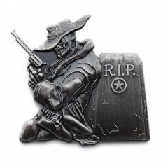 die struck lapel pins - cowboy
