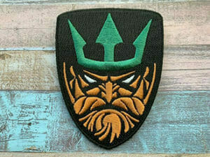 custom made aquaman embroidered patches