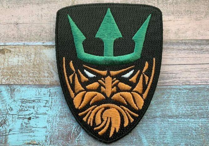 custom embroidered patches: Aquaman design