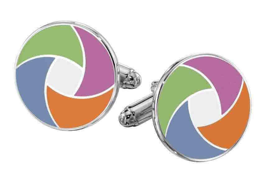 enamel logo cufflinks