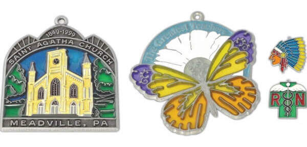 custom enamel logo ornaments
