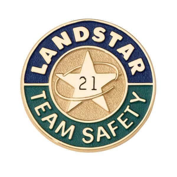 engraved safety service enamel lapel pin