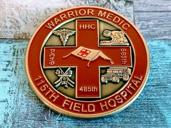 custom field medic coin