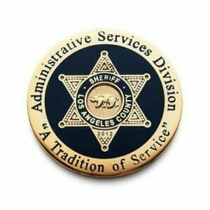 los angeles sheriff coin