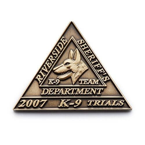 sherriff k9 lapel pin
