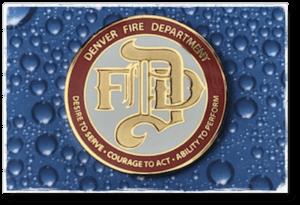 denver firefighter challege coins