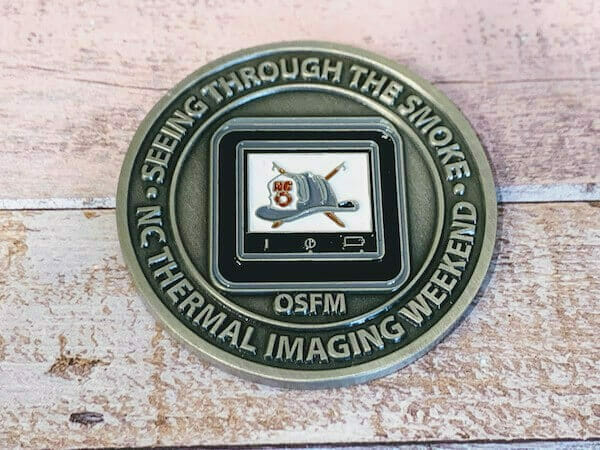 custom firefighter coin