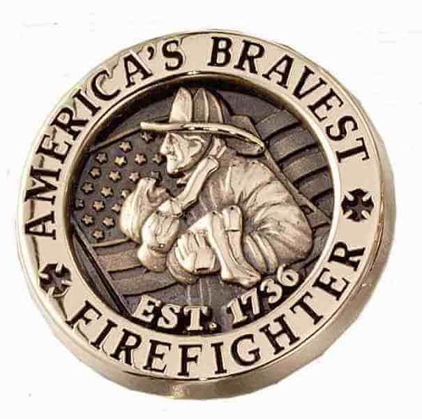 custom firefighter pin