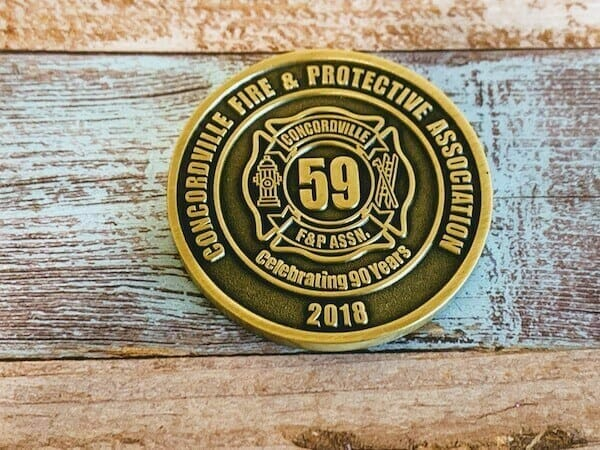 custom firefighter challenge coin