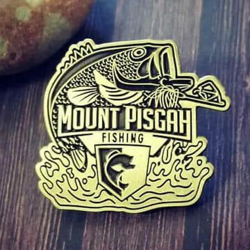 custom shaped diestruck pin