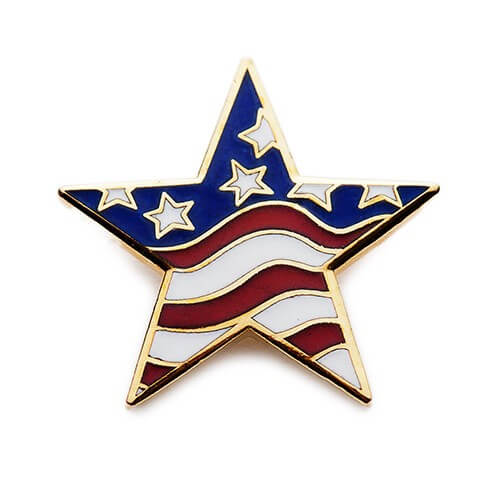 star shaped flag pins