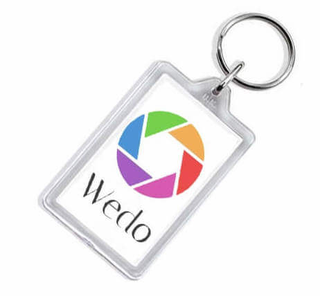 rectangular acrylic key tag in full color