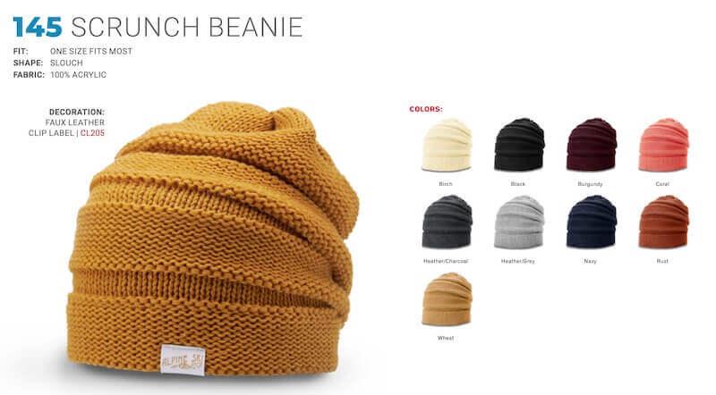 girls custom scrunch beanie