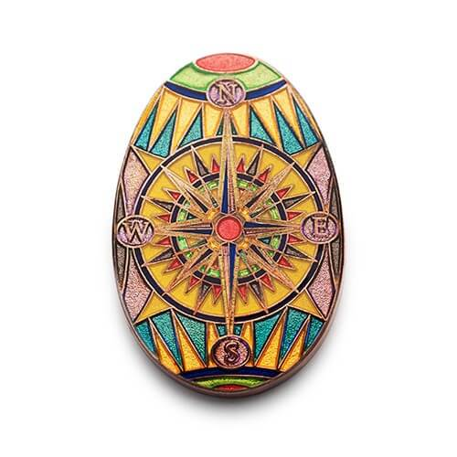 glitter-egg-compass-rose-colorful-pin