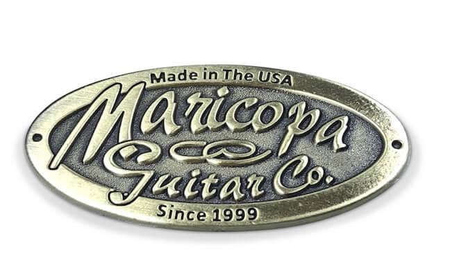 custom manufacturing guitar emblem