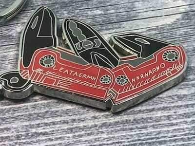 hard enamel custom shaped keychain