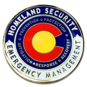 hard enamel logo coins for homeland security