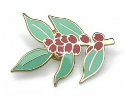 custom plant with berries hard enamel pin