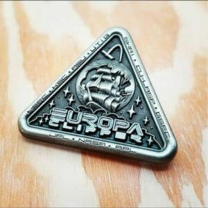 silver jpl ship pin