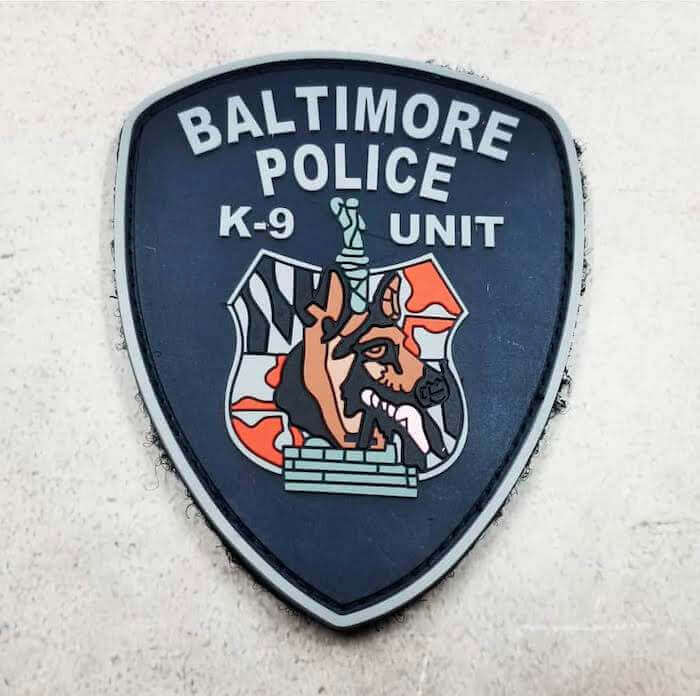 baltimore k9 police patch