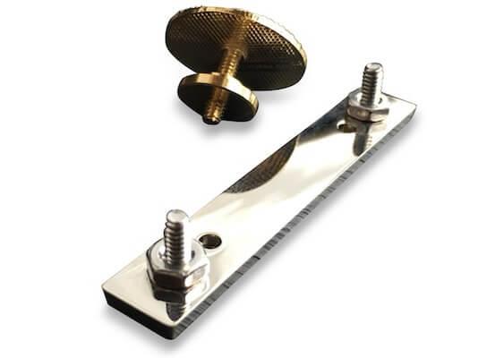 lapel pin screw back attachment