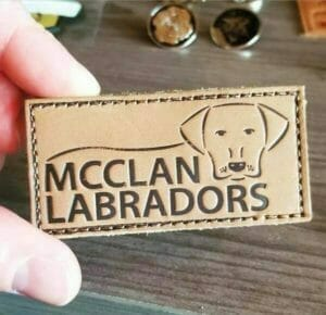 leather labrador dog patch