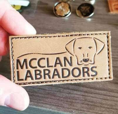 leather labrador dog patch