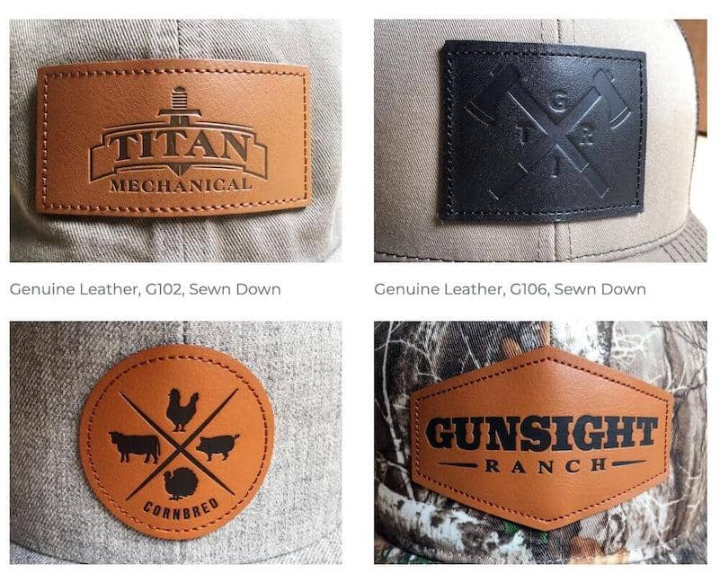 leather patch styles
