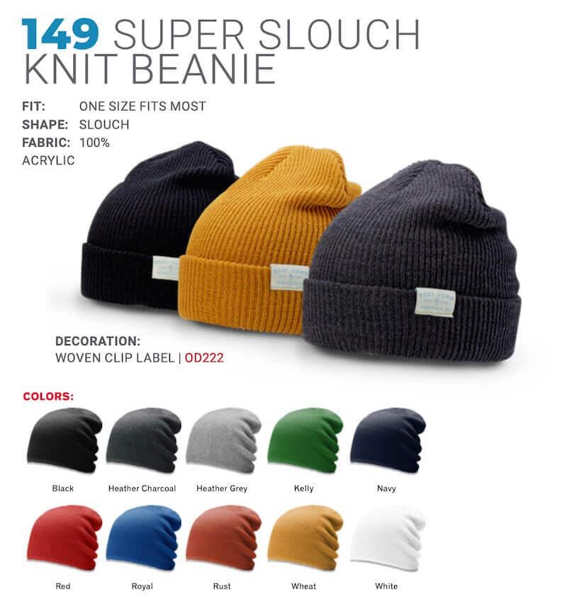 custom logo knit beanie