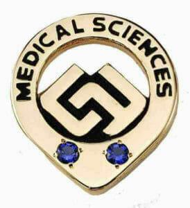 Cusom Gemstone medical service lapel pin