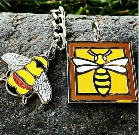 custom bee charms