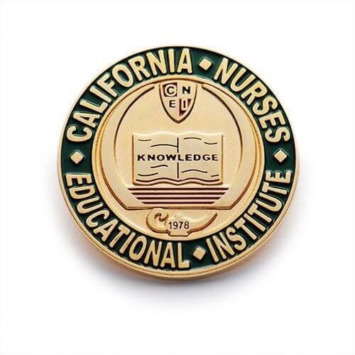 custom california nurses pin