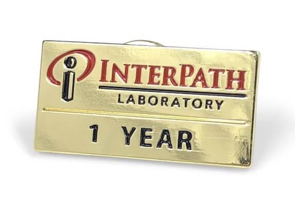 one year company service pin