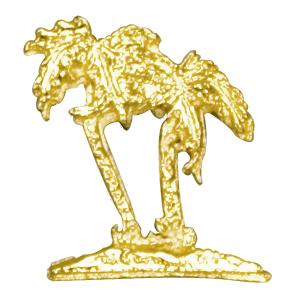palm trees lapel pin