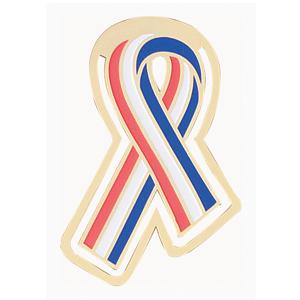 Patriotic ribbon lapel pin
