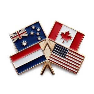 crossing canadian flag pins