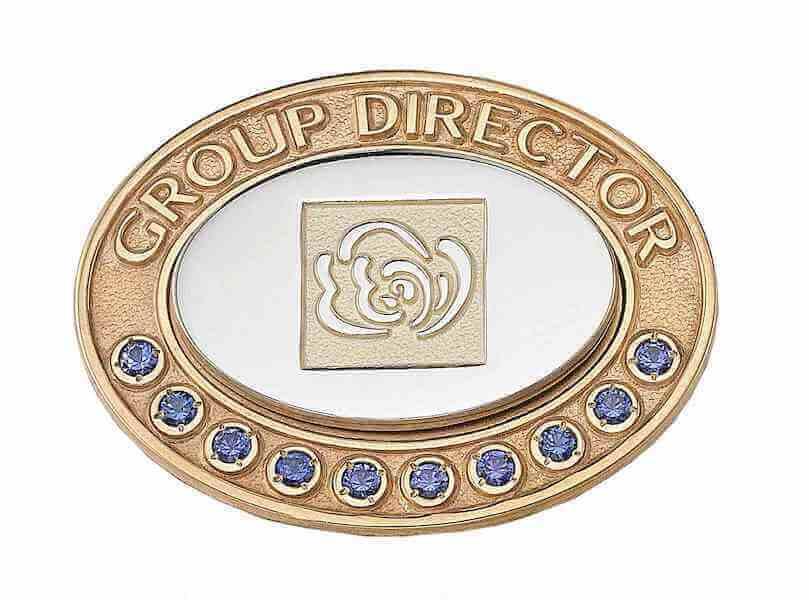 pin with blue diamonds
