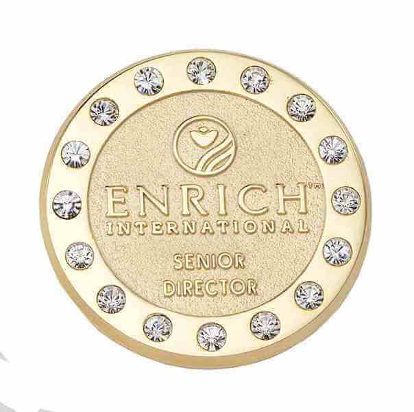 Gold pin with diamonds